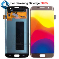5.5inch For SAMSUNG GALAXY S7 EDGE LCD Display Touch Screen Digitizer with frame Assembly For Samsung S7 Edge G935 G935F LCD