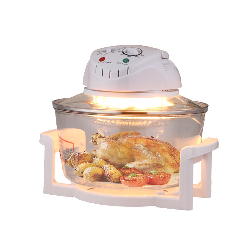 1300W 12L High Borosilicate Glass Electric Deep Fryer Air-fry Oil-free Home Healthy Multi Cooker 250 Degree Light Oven home healthy non stick electric deep fryer smokeless electric air fryer french fries machine for home using af 100 1pc