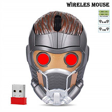 Iron Man Mouse Wireless Gaming Gamer Computer Mice Button Silent Click 1000/1200/1600DPIAdjustable