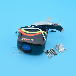 """Image 5 - CNC Rc Boat Tail Power Head Outboard Brushless Motor Prop Watercool Mount Steering Function For Electric Boat Length 24"""" to 30"""""""
