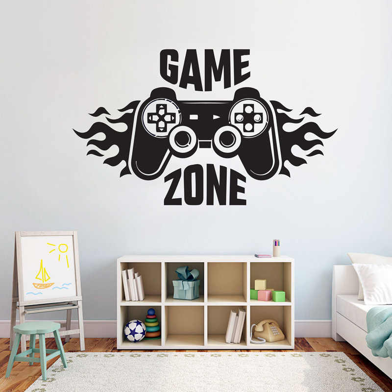 Kids Bedroom Wall Decal Sticker Home Decoration Game Zone Gamer Art Decal Mural Poster Boys Palyroom Wall Decoration G59