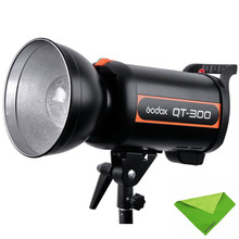 купить Godox QT-300 800W LED Video Fast Duration Flash Light Studio Lamp Strobe Head 1/5000s AC200-240V/50HZ Photographic Lighting недорого