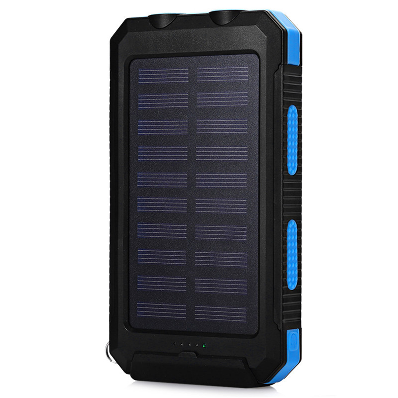 Portable <font><b>Solar</b></font> <font><b>Power</b></font> <font><b>Bank</b></font> <font><b>20000mah</b></font> Waterproof <font><b>External</b></font> <font><b>Battery</b></font> Powerbank 20000 mah Phone <font><b>Battery</b></font> Charger Dual LED <font><b>Power</b></font> <font><b>Bank</b></font> image