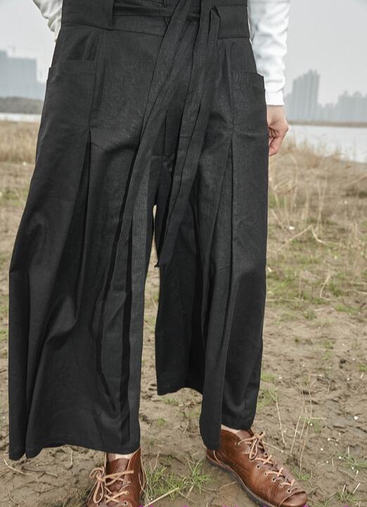 Symbol Der Marke 2018 Neue Männer Bekleidung Fashion Stylist Retro Doppel Taille Band Lose Hohe Taille Leinen Breite Beinhosen Plus Größe Kostüme