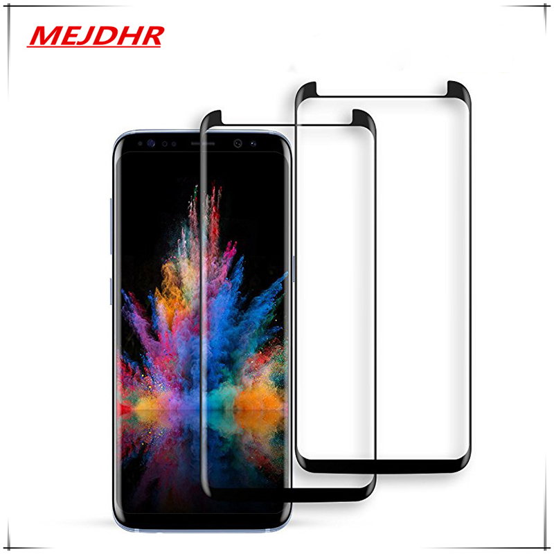 Mejdhr 3D Glass For Samsung Galaxy S8 S9 Plus Glass Tempered Protecting Movie For Samsung Observe eight Observe 9 Protecting Movie