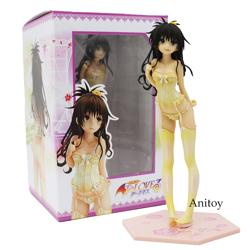 To Love Darkness Yuuki Mikan Action Figure 1/7 scale painted figure Wedding Dress Underwear Ver. PVC Figure Model Toy to love ru darkness action figure eve sexy swimsuit cartoon children gifts pvc action figure collectible model toy 23cm kt3201
