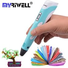 Myriwell 3D Stift LCD 3D Zeichnung Druck Stifte 3d Magie stift Mit ABS Filament Kunsthandwerk Zeichnung Verbessern Räumliche denken