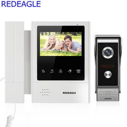 4.3 дюймов touch ключ ЖК-дисплей Мониторы видео-телефон двери Дверные звонки домофон Системы с 700TVL HD металла Камера и 5 м кабель Бесплатная