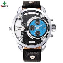 Watches Men Luxury Brand NORTH 2016 Fashion Design Waterproof Wristwatch Stainless Steel Japan Movement Quartz Men Sport Watch