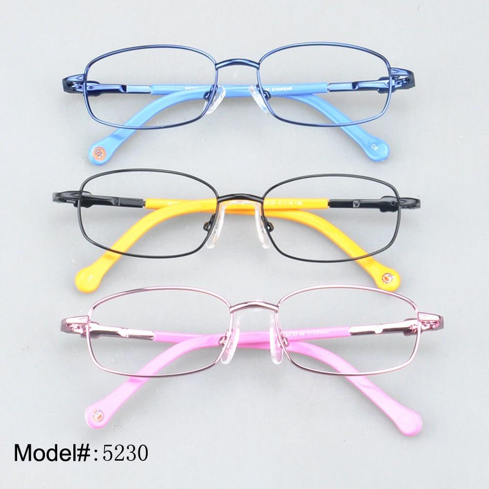 5c22910f8b5a25 Magie Jing 5230 bas prix jante pleine enfant lunettes avec charnière à  ressort lunettes de prescription RX optique cadres