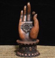 christmas Collection Tibet Buddhism Bronze GuanYin Kwan yin Bodhisattva Buddha Hand Statue halloween