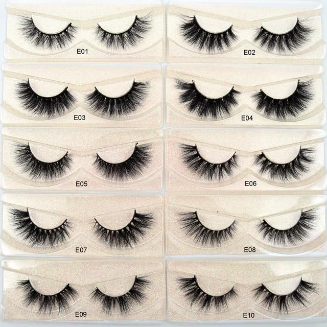 Visofree Mink Eyelashes Natural False Eyelashes Fake Eye Lashes Long Makeup 3D Mink Lashes Extension Eyelash Makeup for Beauty 1