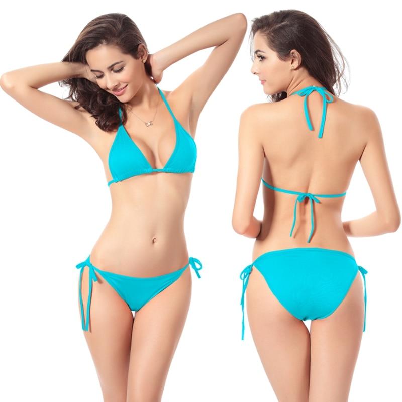 KLV 2017 Sexy Bikinis Women Swimsuit Push UP Set Bikini Brazilian Low Waisted Bathing Suit Biquini Summer Style Swimwear
