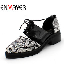 Summer Style New Sexy Fashion Brand Women Sandal Flat Ladies Pointed Toe Patchwork Serpentine Lace Up Black Beige Big Size 34-48 black patchwork plain toe lace up derbies