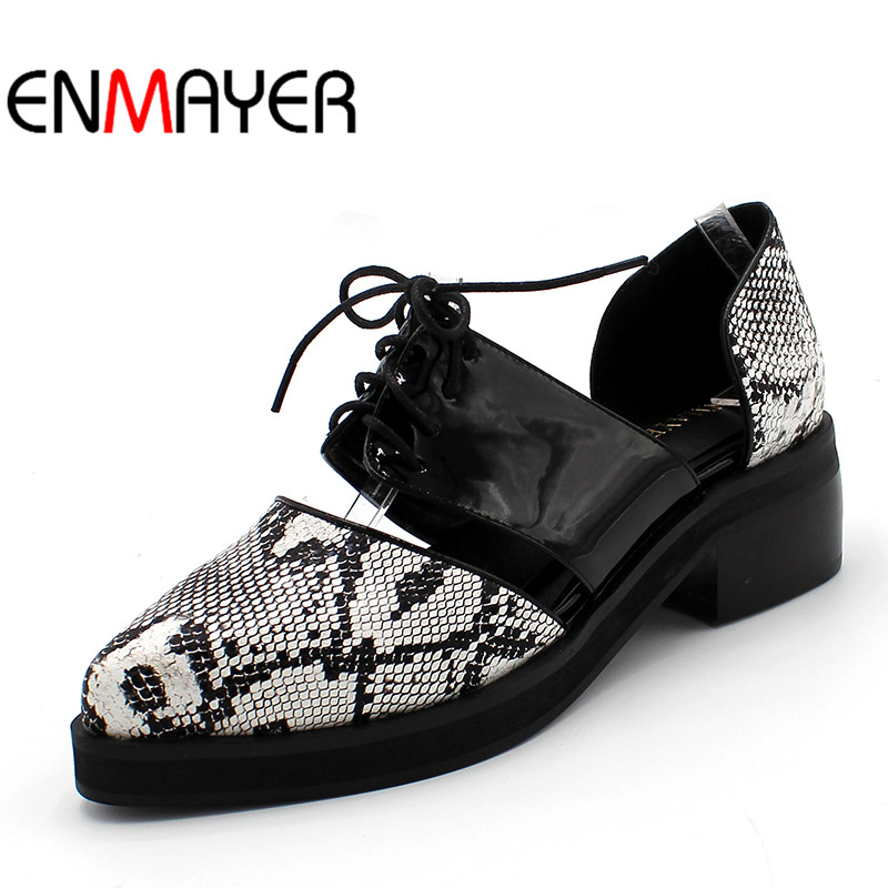 ENMAYER Summer Style New Sexy Fashion Women Sandals Flat Ladies Pointed Toe Patchwork Lace Up Black Beige Shoes Big Size 34 47