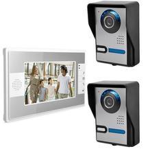 Freeship 7 Pulgadas de Vídeo Portero Automático Sistema de Desbloqueo Soporte Infrarrojos de Visión Nocturna Impermeable Cámara de La Puerta de Control de Acceso