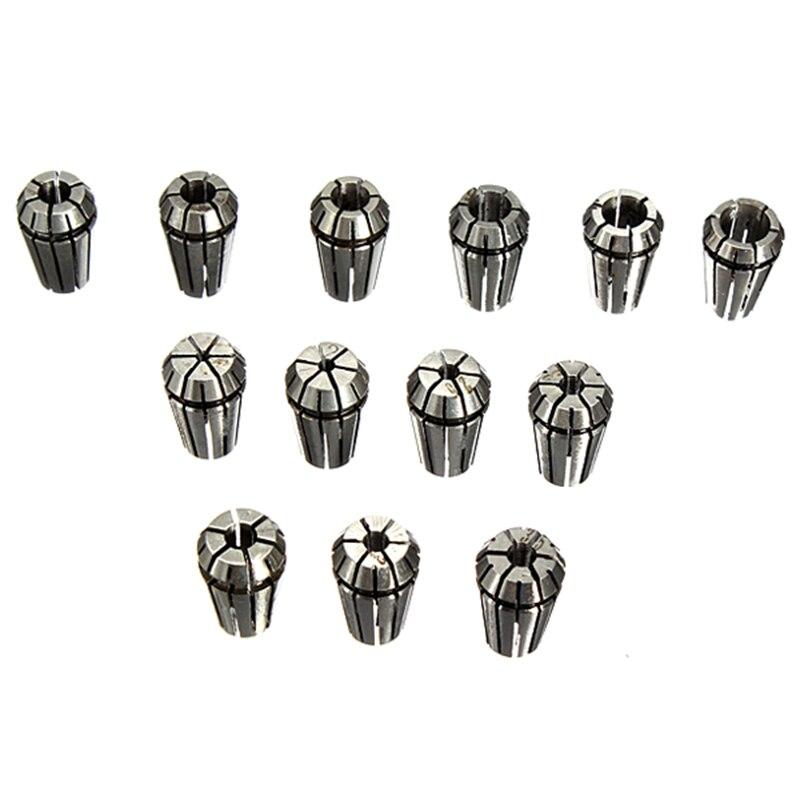 13 pcs ER11 pinze 1-7 millimetri Set Per CNC di fresatura per incidere13 pcs ER11 pinze 1-7 millimetri Set Per CNC di fresatura per incidere