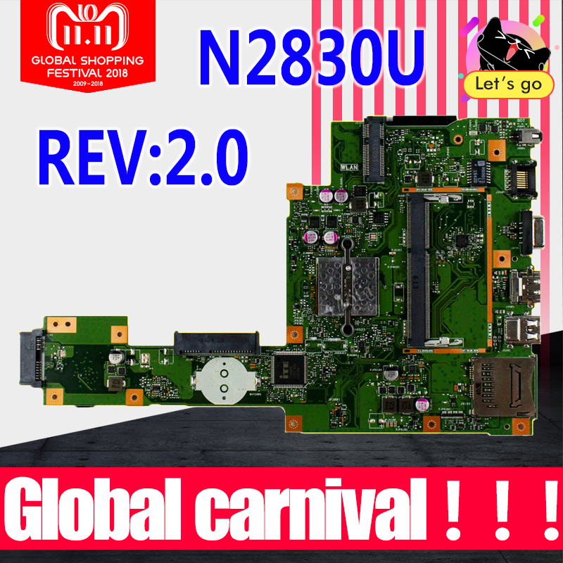 X553MA motherboard N2830U REV2.0 FOR ASUS X503M F553MA F553M X553MA laptop mainboard X553M X553MA Motherboard 100% Test OK