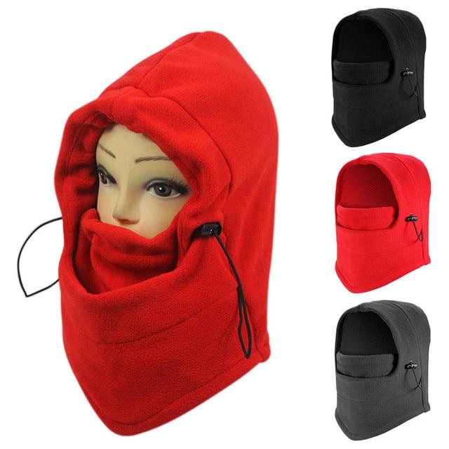 6f31bb58bfc 1pc Thermal Fleece Balaclava Hat Mask Mountaineering Warmer Winter Sport Face  Mask for Men Ski Bike Motorcycle Helmet Masked Cap