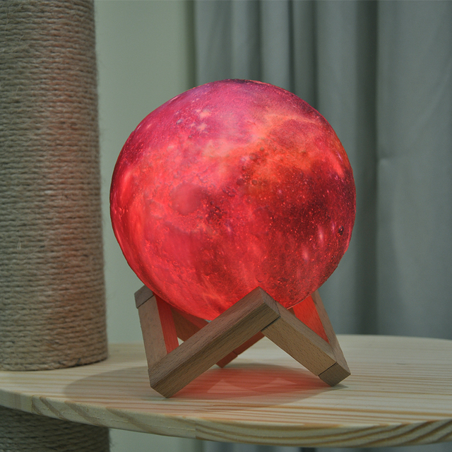 Dropship New Arrival 3D Print Star Moon Lamp Colorful Change Touch Home Decor Creative Gift Usb Led Night Light Galaxy Lamp 5