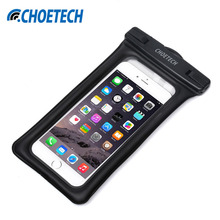 CHOETECH Inflatable Waterproof Pouch Mobile Phone Bags 30M Underwater Dry Case Cover For iphone 5 5S 6 6S Plus/Samsung/LG/Xiaomi