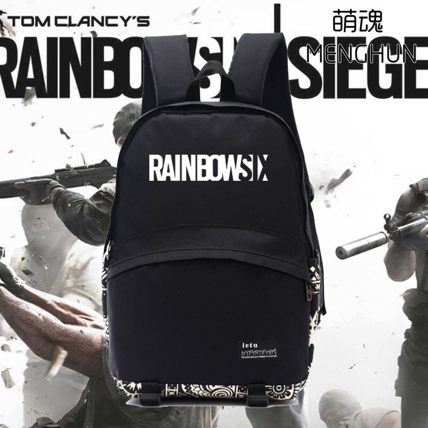 PC game Video game concept backpack Rainbow Six nylon bag black nylon backpack for Rainbow six fans high quality game gift ab186