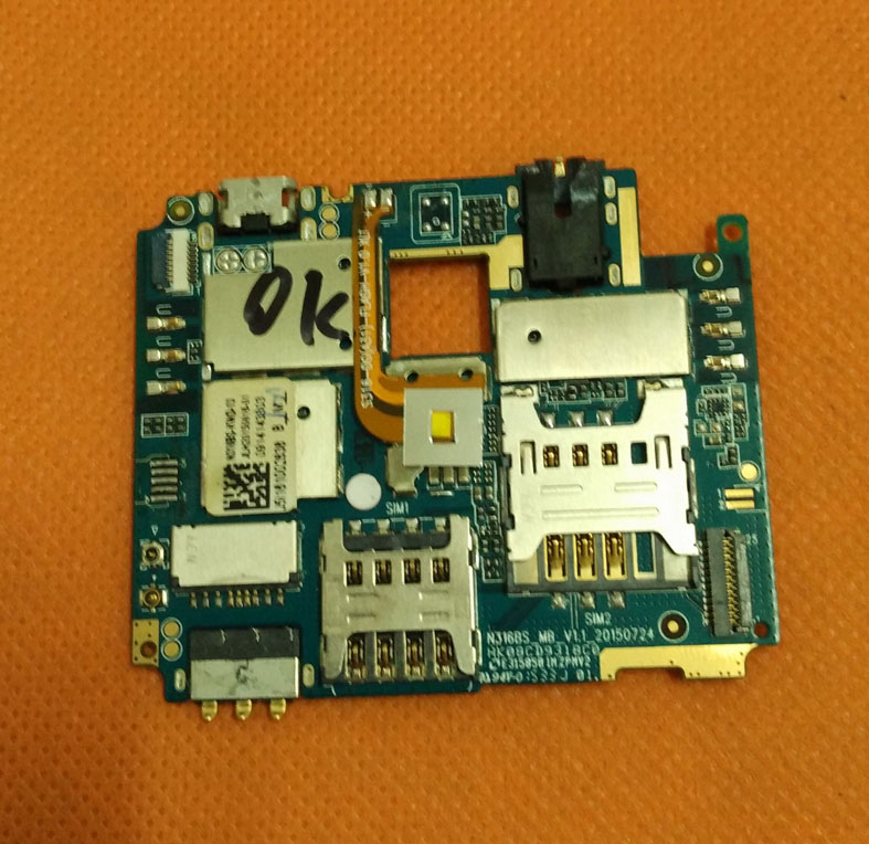 Original mainboard 2G RAM+16G ROM Motherboard for Doogee Y100 Plus MTK6735 Quad Core 5.5 Inch HD 1280x720 Free shiping