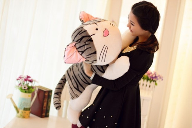 cartoon cat large 100cm squinting eyes cat plush toy hugging pillow toy Christmas gift h596 free shipping plush toys dinosaurs doll hold pillow cartoon dolls 80cm 100cm christmas gift