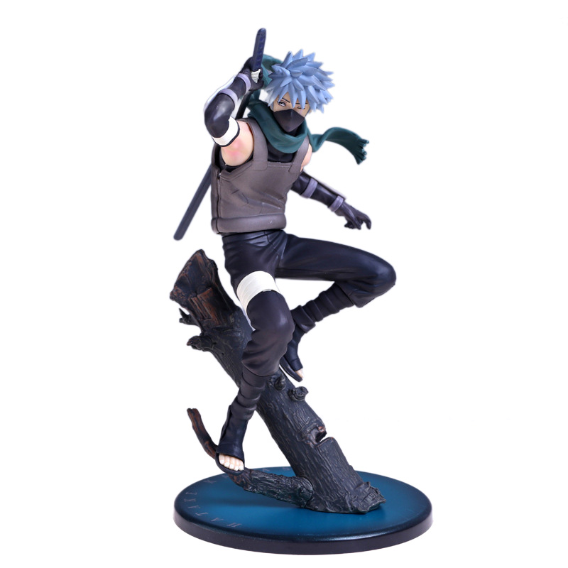Naruto Shippuden Anbu Ninja Hatake Kakashi 20cm PVC Action Figure free shipping 12 naruto anime ninja copiador hatake kakashi light blade stand boxed 30cm pvc action figure collection model toy
