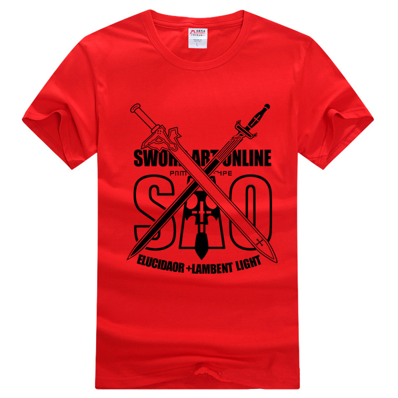 Men Women Fashion T Shirt Anime Sword Art Online SAO TShirt Cotton Print Short Sleeve Casual T shirt Cosplay Tops Tees Clothes in T Shirts from Men 39 s Clothing