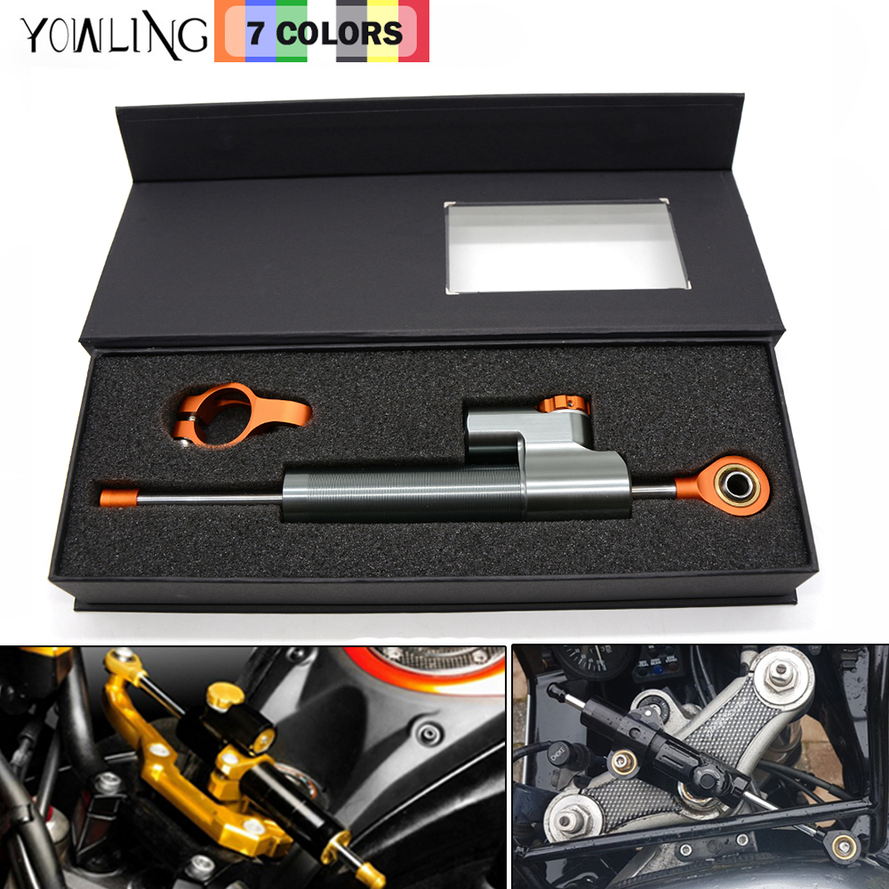 MT-07 MT-09 YZF R1 R6 Z800 Z750 Z1000 ER6N Motorcycle CNC Damper Steering StabilizerLinear Reversed Safety Control for KTM Honda