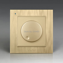 Free Shipping Kempinski Luxury Wall Dimmer Switch Light Switch AC 110 250V 86mm 86mm X8 series