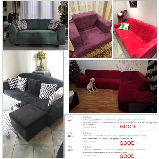 sofa cover made by plush fabric for thick sofa | free shipping | online brands