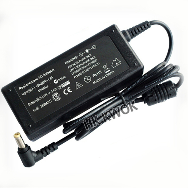 New 19 V 3.42A 5.5x1.7mm Poder Suppy Adaptador Para Acer Aspire Laptop 5315 5630 5735 5920 5535 5738 6920 7520 Notebook carregador