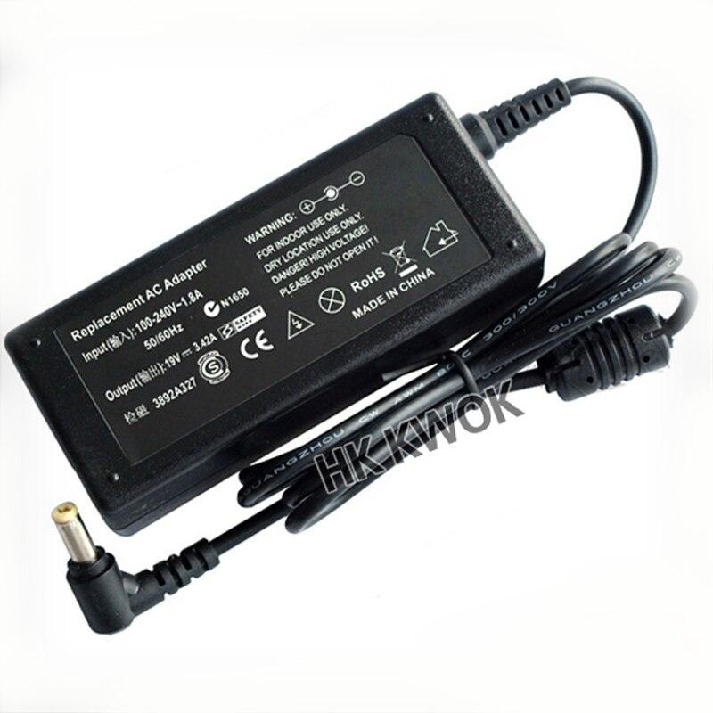 Nova 19V 3.42A 5.5x1.7mm Poder Suppy Adaptador Para Laptop Acer Aspire 5315 5630 5735 5920 5535 5738 6920 7520 Notebook Carregador