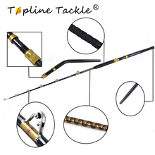 Topline Tackle  trolling rod telescopic casting jigging big game fly spinning carbon carp fiberglass Bent and straight