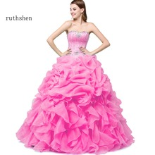 Quinceanera-Gowns 16-Dresses Pink/yellow Sweet Debutante Ruthshen Cheap with Jacket Mint-Green/hot