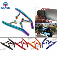 waase Motorcycle Tail Rear Seat Pillion Passenger Grab Rail Bar Handle Rack Bracket For Yamaha Zuma BWS YW 125 YW125 2009 2015