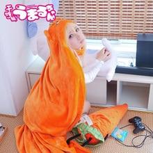 Высокое качество Himouto()! Umaru-chan Плащ Аниме Umaru Chan Doma Umaru Косплей Костюм фланелевые плащи одеяло мягкая шапка Толстовка