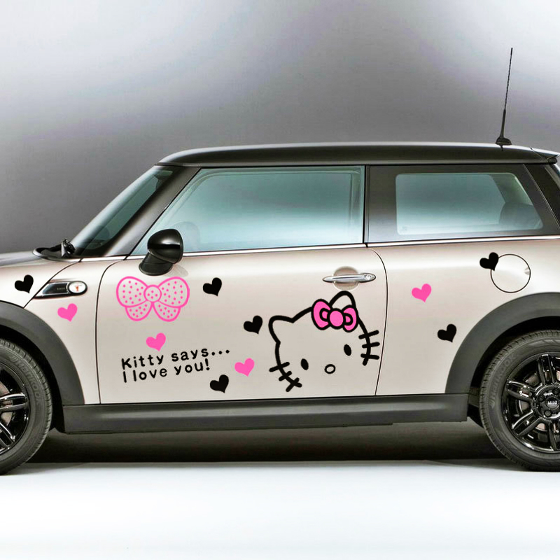 Etie Car Accessories Lovely Hello Kitty Says I Love You