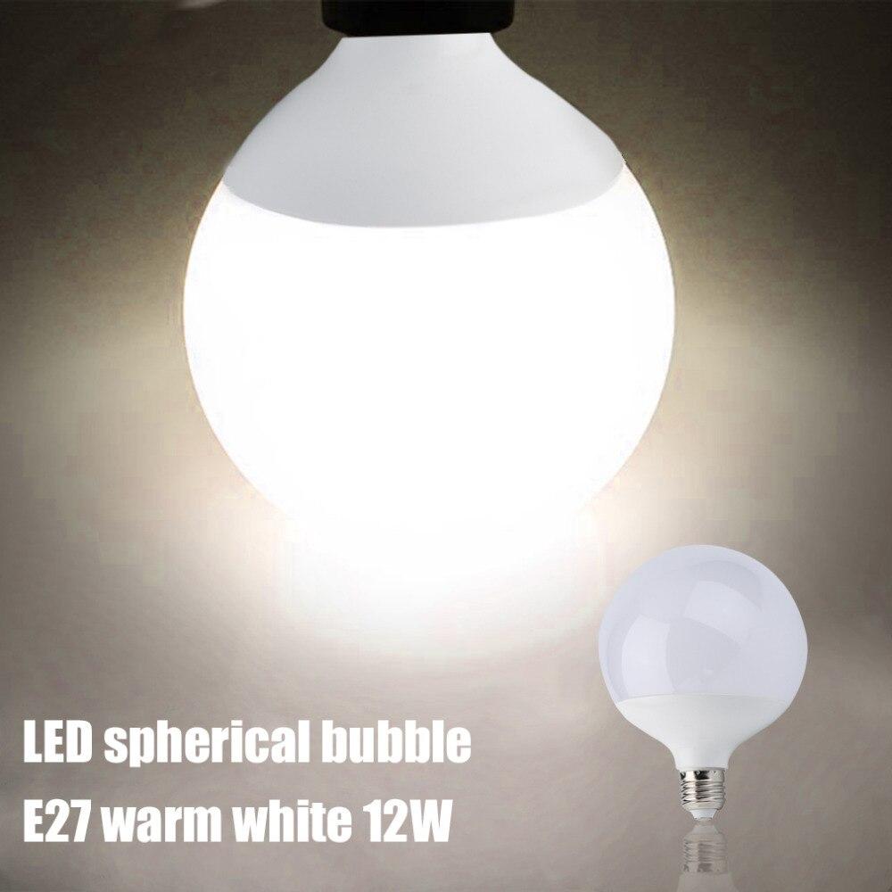 ICOCO 3/5/7/9/12/15W Super Bright E27 LED Light Bulb Energy Saving Global Ball Shape Home LED Light Lamp Bulb White/Warm White
