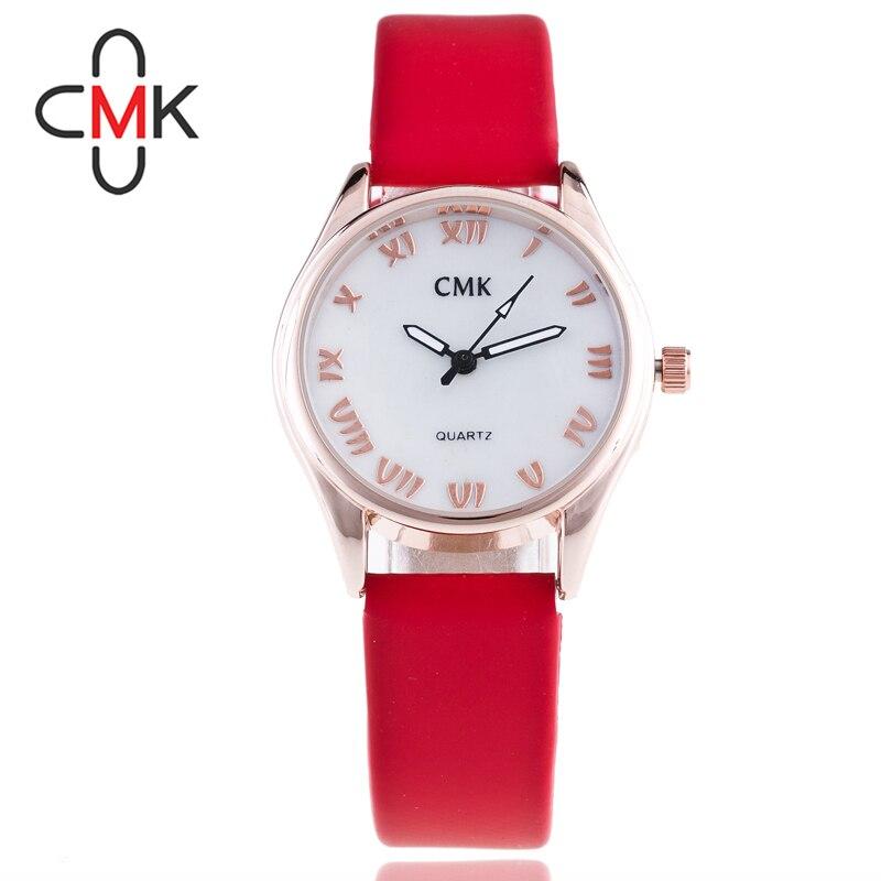 a6d0ab44e8ed Niñas cuero impermeable reloj analógico de cuarzo reloj de pulsera moda  mujer casual blanco Acero inoxidable Relojes