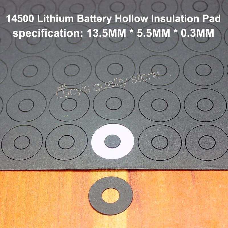 100 pçs/lote quinta bateria positivo isolamento arruela méson 1 14500 bateria de lítio positivo ponta oca de papel rápido méson
