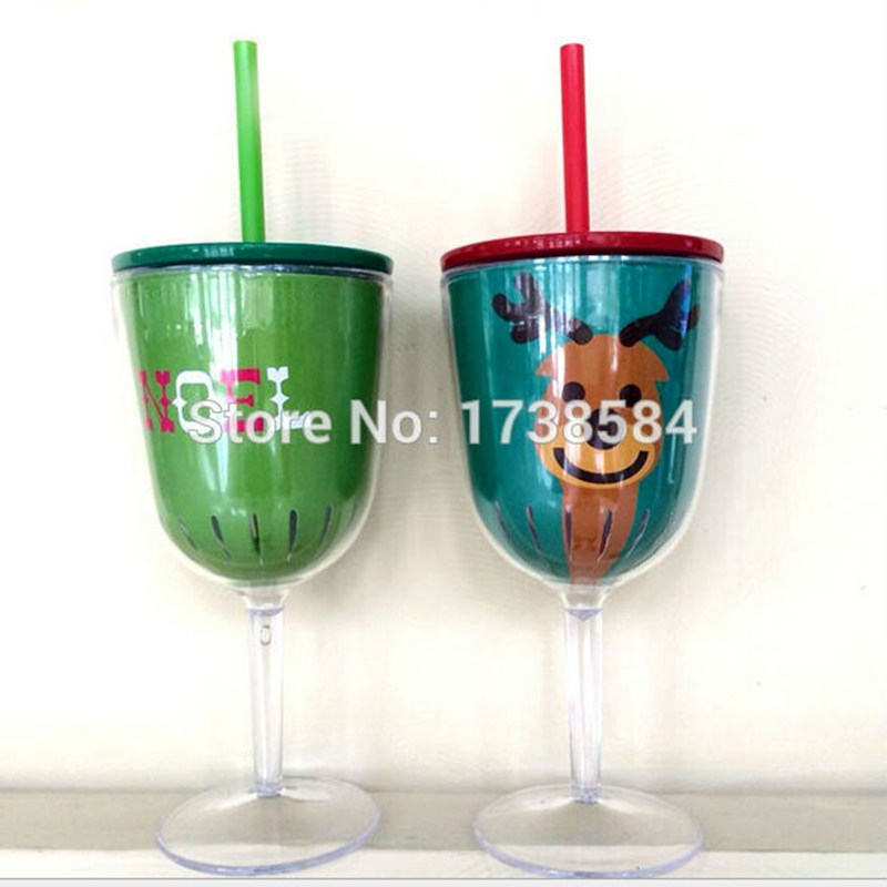12oz red wine glass tumbler acrylic plastic mug with lid and straw clear vadka beer cup reuseable bar sets gift bottle