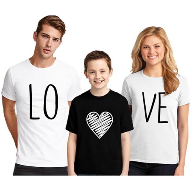 1842b9e65d EnjoytheSpirit Couple Tshirt Family LOVE T-Shirt Matching Family T-shirt  100% Cotton Short Sleeve Soft Cotton Funny Top Tee