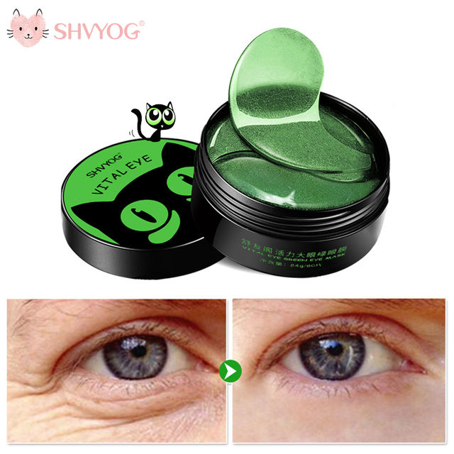 SHVYOG 60pcs Anti Wrinkle Eye Patches Crystal Collagen Remove Dark Circles Hydrogel Under the Eyes Sleep Mask Patch for the face
