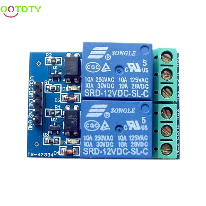 12V 10A 2 Channel Relay Module With Optocoupler For PIC AVR DSP ARM for Arduino  828 Promotion ootdty 4 channel relay module with optocoupler pic avr 51 arm for arduino single chip dc 12v apr12 30