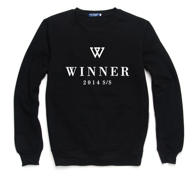 kpop WINNER same loose fashion Spring autumn thin paragraph women hoodies Korea men and women lovers cotton Harajuku sweatshirts