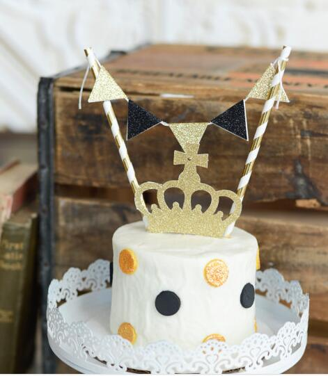 Wondrous Personalized Little Prince Birthday Cake Buntings Cupcake Toppers Personalised Birthday Cards Bromeletsinfo
