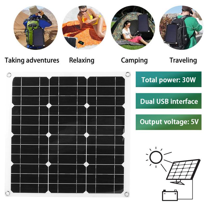 DIY Multifunctional Solar Panel Kit Solar Panel Charger Solar Controller Charging Solar Panel System 30W 420 X420mmDIY Multifunctional Solar Panel Kit Solar Panel Charger Solar Controller Charging Solar Panel System 30W 420 X420mm